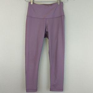 [90 Degree by Reflex] Hi Rise Lavender Crop Tight